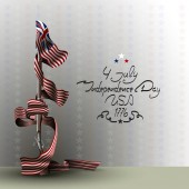 The US independence day Background on independence day The 4th of July Background with a musket A musket with a bayonet Lettering-independence day