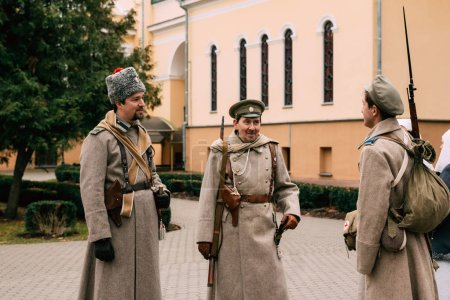 Three Soldiers of the White Guard at the October Revolution of 1