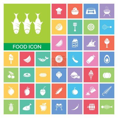 Photo pour Ensemble d'icônes alimentaires. Icône Alimentation très utile Set Illustration simple. Icônes utiles pour le Web, Mobile, Logiciel & Applications. Eps-10 . - image libre de droit