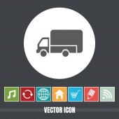 very Useful Vector Icon Of Mini Truck with Bonus Icons Very Useful For Mobile App Software & Web