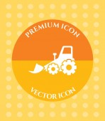 Bulldozer Icon for Web Applications Software & Graphic Designs