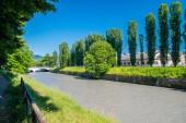 Dora Riparia at sunny day in Turin, Italy.