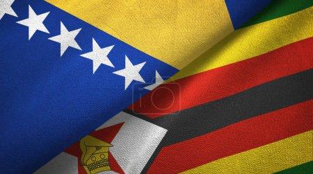 Bosnia and Herzegovina and Zimbabwe flags together...