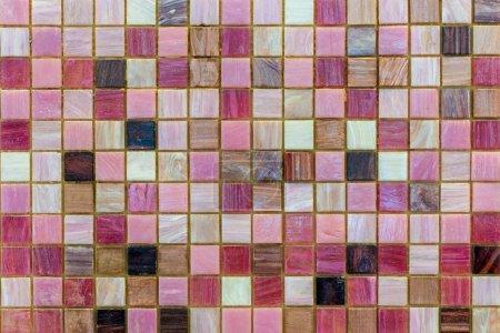 Foto de Baldosas cerámicas. azulejos para cocina o baño de la pared o el piso mosaico beige. - Imagen libre de derechos