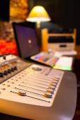 digital recording, editing, broadcasting studio concept