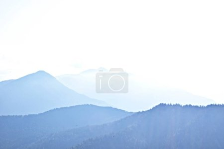 Photo for Mountain landscape with fog and clouds - Royalty Free Image