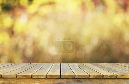 Photo for Empty wooden table for display montages - Royalty Free Image