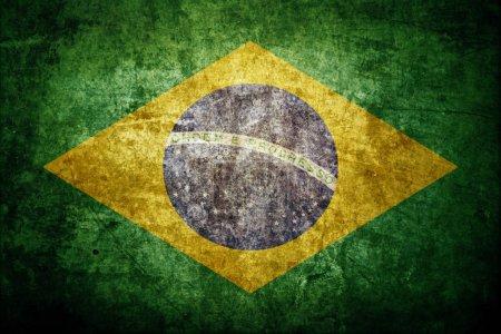 Photo pour Drapeau du Brésil comme toile de fond - image libre de droit