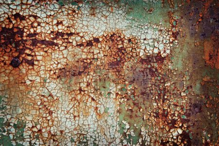 Old rusty metal plate background
