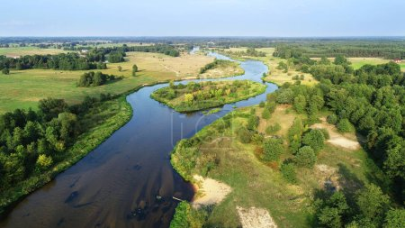 Photo for Aerial view of beautiful natural river - Royalty Free Image