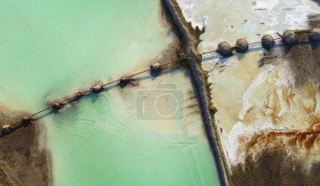 Photo pour Belle vue aérienne du paysage naturel - image libre de droit