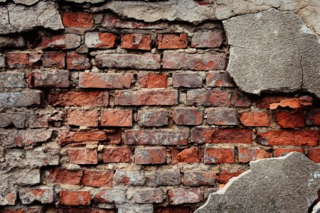 Photo pour Vieux mur de briques fond ou texture - image libre de droit