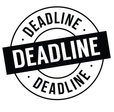 deadline stamp on white