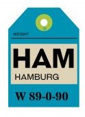 Hamburg airport luggage tag