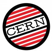 CERN stamp on white