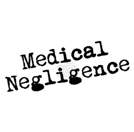 Illustration pour Timbre de négligence médicale sur le fond blanc. Séries d'étiquettes et de timbres. - image libre de droit