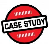CASE STUDY stamp on white