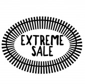 EXTREME SALE stamp on white
