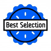 BEST SELECTION stamp on white