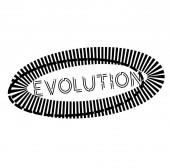EVOLUTION stamp on white
