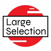 LARGE SELECTION stamp on white background