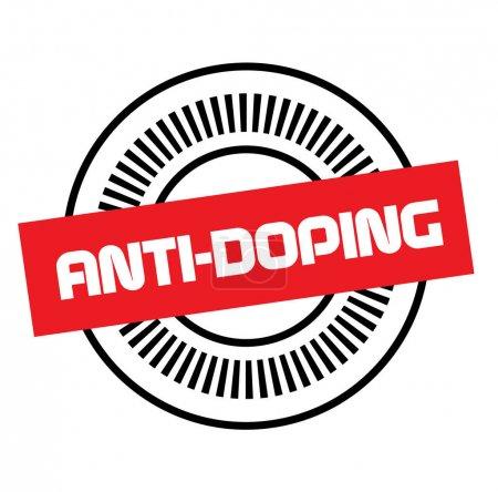 Illustration pour Timbre ANTI-DOPING sur fond blanc. Autocollants étiquettes et séries de timbres . - image libre de droit