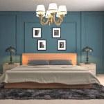 Bedroom interior. 3d illustration...