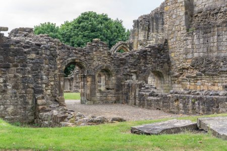 The Old Transept Ancient Ruins Kilwinning Abbey Scotland. This particular area was known as the 'Warming House'