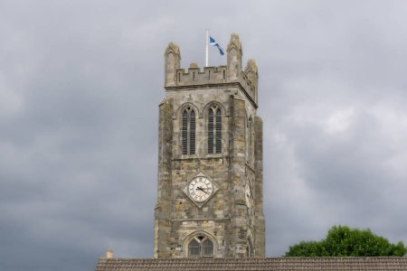 The ancient ruins of Kilwinning Abbey and the old Clock Tower that stands over the abbey and the town centre.
