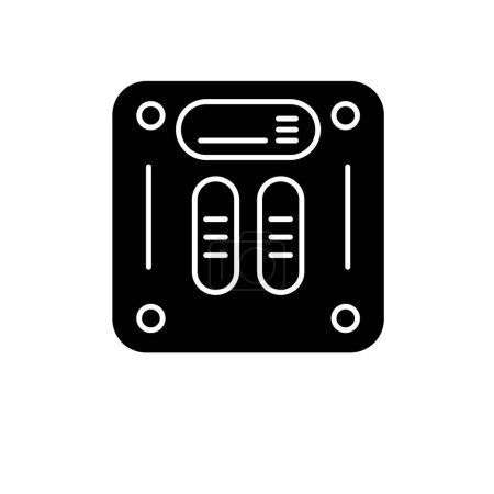 Weight scales black icon, concept vector sign on i...