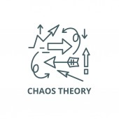 Chaos theory line icon vector Chaos theory outline sign concept symbol flat illustration