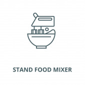Stand food mixer vector line icon linear concept outline sign symbol