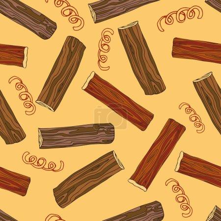 Modèle sans couture pour la décoration de bains, saunas. Dessin à la main dans le style croquis. Illustration couleur. L'image de fond pour un tissu d'impression, papier d'emballage. Illustration vectorielle .