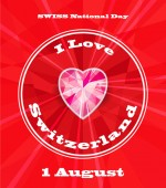 1st August Swiss National Day Vector illustration of national holiday with Swiss flag and Patriotic elements Creative concept for posters greetings banners backgrounds and printing Crystal
