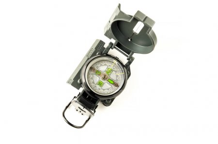 Photo for Modern compass to determine the direction of movement on a white background - Royalty Free Image