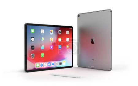 Photo for Cracow, Poland - February 24, 2019 : iPad Pro a new version of the tablet from Apple. - Royalty Free Image