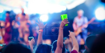 Photo for Crowd at concert - music festival - Royalty Free Image