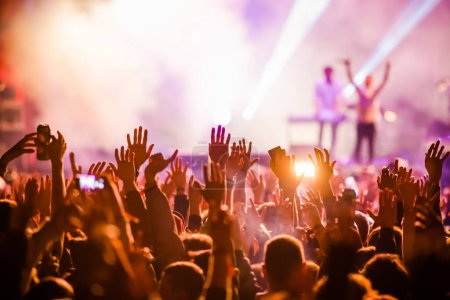 Photo for Crowd at concert summer  music festival - Royalty Free Image