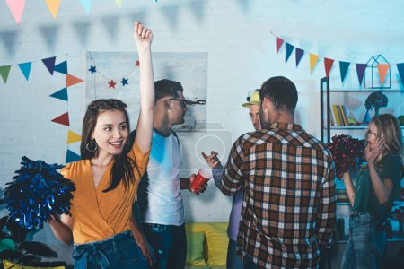 Photo for Happy young people having fun and partying indoors - Royalty Free Image