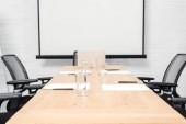 """Постер, картина, фотообои """"Интерьер пустой конференц-зала с пустой презентации Совет"""""""