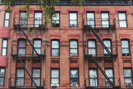 Photo for Full frame of building with staircases in new york city, usa - Royalty Free Image
