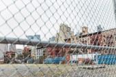 """Постер, картина, фотообои """"выборочный фокус net и улицы города Нью-Йорк, США"""""""