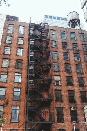 Photo for Low angle view of old building in new york city, usa - Royalty Free Image