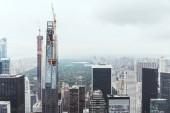 "Постер, картина, фотообои ""Аэрофотоснимок архитектуры на Нью-Йорк, США"""