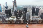 """Постер, картина, фотообои """"высокий угол зрения оперированных бинокль на смотровую площадку в Нью-Йорке, США"""""""