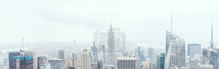 Photo for Panoramic view of new york city buildings, usa - Royalty Free Image