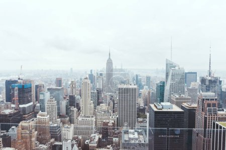 Photo for Aerial view of architecture on new york city, usa - Royalty Free Image