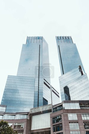 Photo for Low angle view of skyscrapers and clear sky in new york city, usa - Royalty Free Image