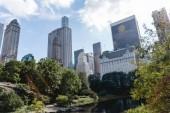 """Постер, картина, фотообои """"здания и городской парк в Нью-Йорке, США"""""""