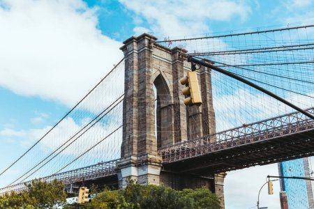 Photo for Brooklyn bridge and cloudy sky in new york, usa - Royalty Free Image